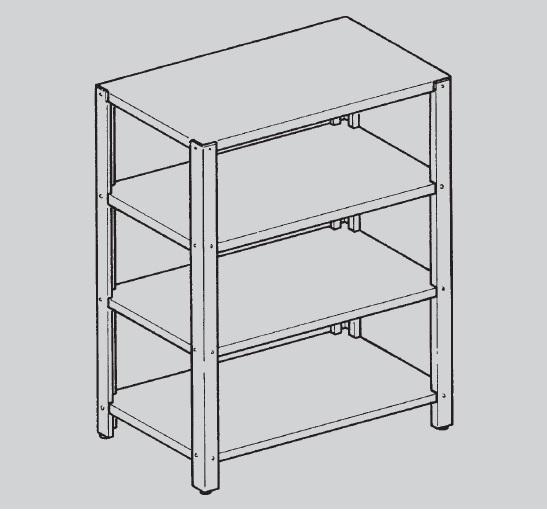mbm sc145 4 niveaux profondeur 50 cm. Black Bedroom Furniture Sets. Home Design Ideas